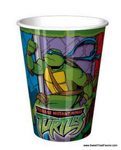 NINJA TURTLES CUPS x8 Party Favors TMN MIKE LEO DON RAPH Decoration Birt... - $7.87
