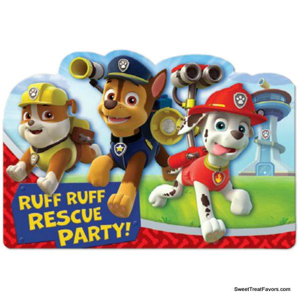 PAW PATROL Invitations Dog Birthday Invite Decoration Party Supplies Boy Favors - $5.89