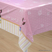 Minnie Mouse Baby TABLECOVER 1st First Birthday Decoration Party Pink Tablecloth - $6.88