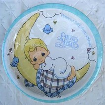 Precious Moments Party PLATES Lunch Baby Shower Birthday Decoration Boy Blue NEW - $8.86