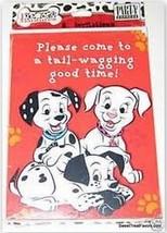 101 102 Dalmatians Party Invitations x8 Supplies Invite Dogs Bone Decora... - $8.37