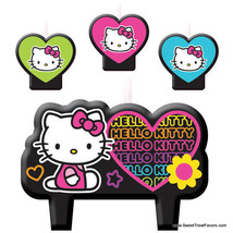 HELLO KITTY Party Birthday Favors Candle Cake Cupcake Topper Kit Cat Decoration - $8.86