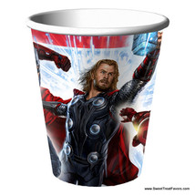 AVENGERS HULK Party CUPS x8 Supplies Birthday MARVEL Decoration Heroes I... - $6.39