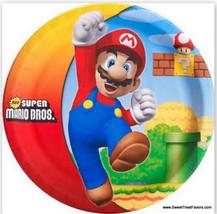 MARIO BROS Plates LUNCH Birthday Decoration Game Party Supplies Luigi Ni... - $9.85