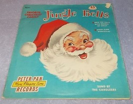 Peter Pan Childs 45 Rpm Record Jingle Bells and Favorite Christmas Carols - $7.00