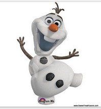 Frozen Party Balloon Mylar Birthday Decoration Princess Shape Snowman Olaf Xl - $9.85