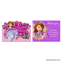 Sofia The First INVITATIONS Birthday Decoration Party Supplies Princess Thanks - $6.39