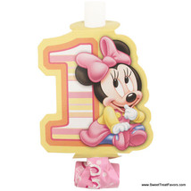 Minnie Mouse Baby BLOWOUTS 1st First Birthday Decoration Party Supplies Girl x8 - $5.40