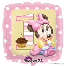 Minnie Mouse Baby Balloon Mylar 1st First Birthday Decoration Party Supp... - $3.91