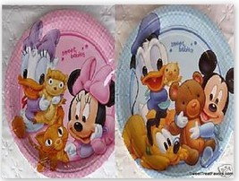 Disney Babies Mickey Minnie Party Birthday Plates Cake Decoration Baby Shower Nw - $14.80