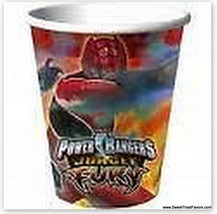 POWER RANGERS Party FAVOR 8 CUPS Birthday Fury Supplies Jungle Fury Asia... - $6.19