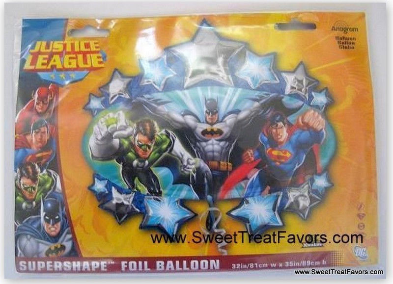 SUPERFRIENDS Decoration Justice League BALLOON Batman Superman Marvel  Heroes NW - $8.27