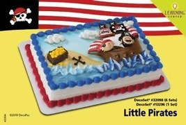 Little Pirates Cake Decoration Topper Party Birthday Supplies Kit Set Nw Cupcake - $8.86