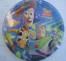 Toy Story Party Supplies PLATES Package Woody Buzz Lunch Decoration Movie x8 NEW - $6.88