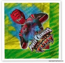 Power Rangers Party Napkins Lunch Birthday Supplies x16 Furia Birthday Dinner Nw - $4.93