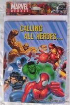 MARVEL HEROES Hulk INVITATIONS Party SPIDERMAN Birthday Decoration Suppl... - $7.87