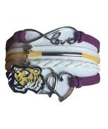 Louisiana State University Tigers LSU Fan Shop Infinity Hearts Bracelet ... - $12.99