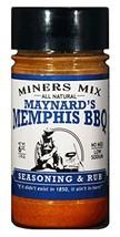 Miners Mix Maynards Memphis BBQ Rub No MSG Low Salt 6 oz Jar