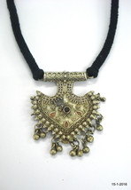 vintage necklace antique tribal old silver necklace pendant traditional ... - $146.52