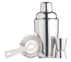 Barcraft stainless steel cocktail making kit 3 piece gift for Craft cocktail gift set