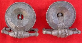 vintage antique collectible tribal old silver ear plug earrings gypsy jewellery - $484.11