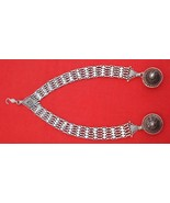ANTIQUE TRIBAL OLD SILVER HAIR ORNAMENT WITH EAR PLUG - $484.11
