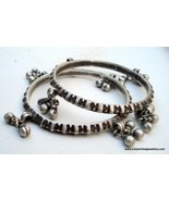 belly dance jewelry old silver bangle bracelet antique - $232.65