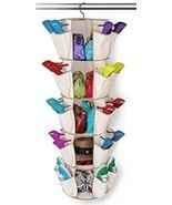 Smart Spinning Shoe & Closet Organizer Carousel - 5 Tier - 40 Pockets - $13.95