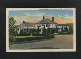 Vintage Postcard Linen Starmount Forest Country Club Greensboro NC  Unused - $7.99