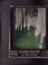 Arthaud 1958 Calendaier Beaux Pays par Annie Vaillant - $14.01