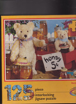 Bialosky & Friends Sealed Puzzle Busy Bees Teddy Bear Ceaco 1988 125 Pieces - $15.01