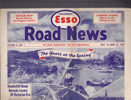 Colonial Esso Road News  NY Vanderbilt Home May 15 1941 - $14.00