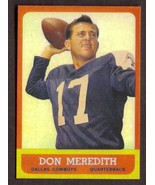 DON MEREDITH Rookie Card RP #74 Cowboys RC 1963 T Free Shipping - $3.00