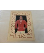 Paul Anka Vintage 1980's Tour Program Book - $29.70