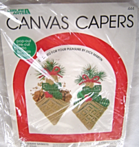 Straw Baskets Ornaments Plastic Canvas Kit 444 Complete NIP Canvas Capers - $16.99