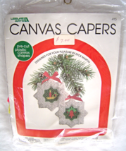 Petite Bell Candle Ornaments Plastic Canvas Kit 415Complete NIP Canvas Capers - $16.99