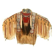 Plains Indian Beaded Warrior Shirt by Cree Leon... - $9,475.00