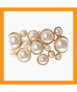 pearl beads shoes corsages wedding accessory white clip heel flat women ... - $29.50