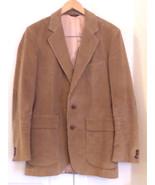 Men's 38 L di Benedetto Sport Coat Jacket Tan Corduroy Two Button Elbow ... - $39.95