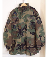 USAF Woodland Cold Weather Field Coat Medium Long 8415-01-099-7836  Line... - $29.95