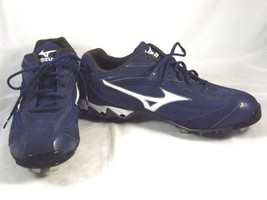 NEW Mizuno Promo 9 Spike Vapor Low Baseball Cleats/Spikes Blue SZ 12.5 - $25.00