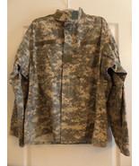 ACU Large Regular Digital Camo Long Sleeve Shirt ARMY COMBAT UNIFORM - $9.99