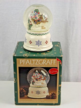 "Pfaltzgraff Nordic Christmas Musical Snow Globe ""Sleigh Ride"" in Box 247... - $15.00"