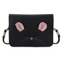 Handbag Mouse Shoulder Bag Pu Leather Cross Section Type Mini Phone Pocket - $10.15+
