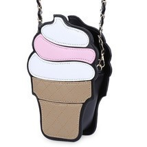 handbags Ice Cream Detachable Chain Belt Strap Shoulder Messenger Cell P... - $11.65