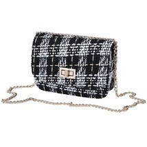 Elegant Women Messenger Chain Bag Striped Woolen Cloth Mini One Shoulder... - $11.39+