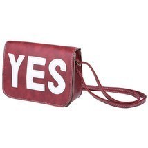 Retro Style Letter Print Artificial Leather Spaghetti Strap Square HandBag - $12.19+