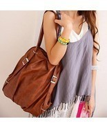 Hand Bag Fashion Buckle and Solid Color Design Women's Satchel - £9.16 GBP+