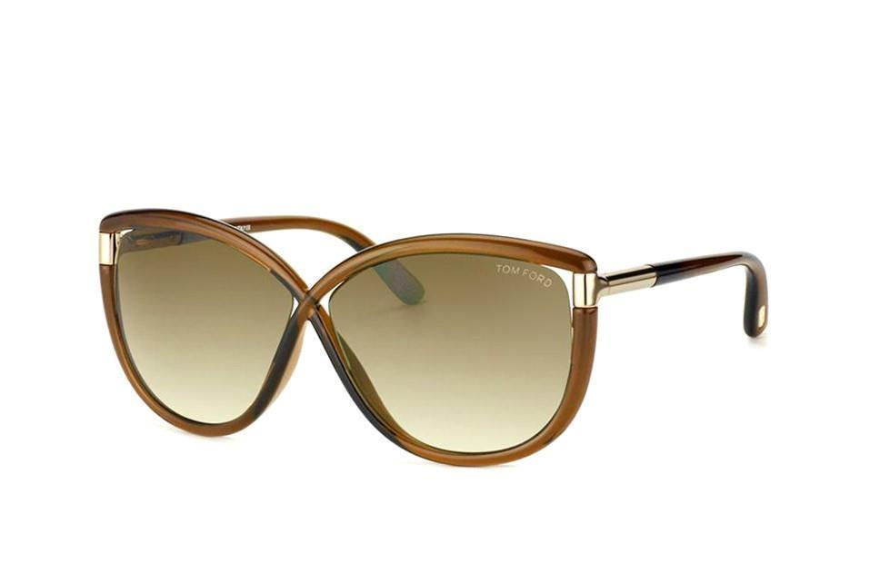 704a8d38e26e S l1600. S l1600. Previous. Authentic TOM FORD Sunglasses TF327 Abbey 48F  Transparent Brown 63MM Cat s Eye