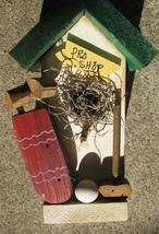 GOLFGR- Golf Pro Shop Birdhouse Green Wood - $8.95
